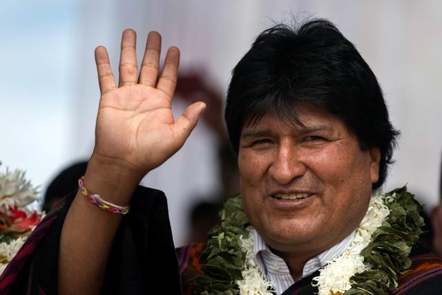Na snímke bolívijský prezident Evo Morales