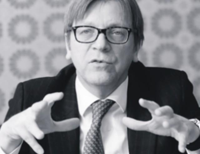 Šéf frakcie liberálov v Europarlamente Guy Verhofstadt