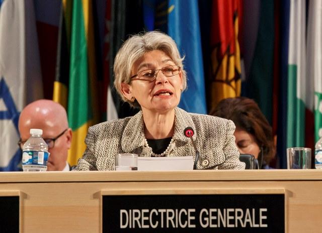 Na snímke generálna riaditeľka Organizácie Spojených národov pre vzdelanie, vedu a kultúru (UNESCO) Irina Bokovová