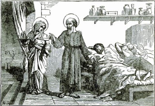 Náčrt zo života svätého Juliána a svätej Basilissy, ktorí sa starali o prenasledovaných a núdznych kresťanov