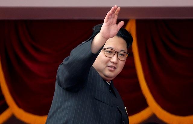 Na snímke severokórejský vodca Kim Čong-un