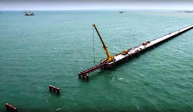 Budovanie Krymského mostu