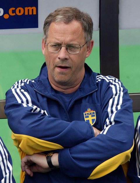 Na snímke tréner švédskej futbalovej reprezentácie Lars Lagerbäck