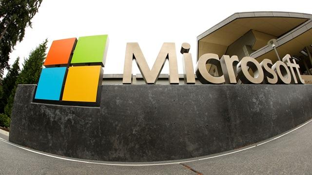 Na snímke logo spoločnosti Microsoft