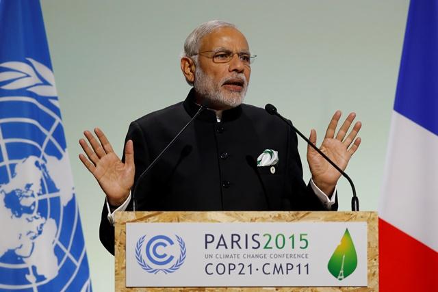 Na snímke indický premiér Naréndra Módí