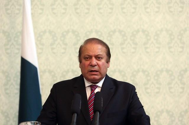 Na snímke pakistanský premiér Naváz Šaríf