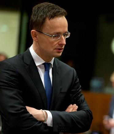 Na snímke minister zahraničných vecí a vonkajších ekonomických vzťahov Maďarska Péter Szijjártó