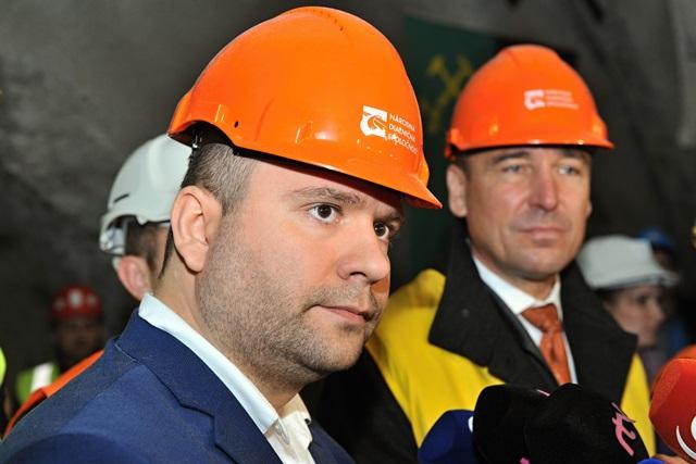 Na snímke generálny riaditeľ Národnej diaľničnej spoločnosti Róbert Auxt