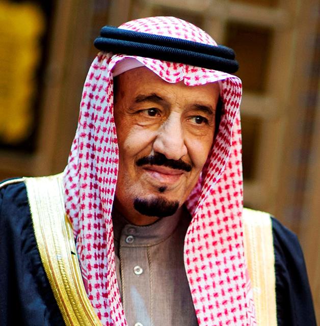 Na snímke saudský kráľ Salman