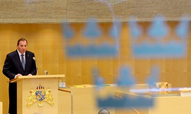 Na snímke švédsky premiér Stefan Löfven