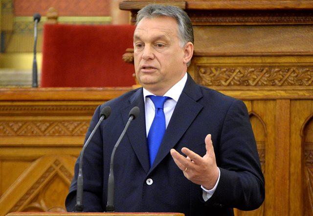 Na sníme maďarský premiér Viktor Orbán