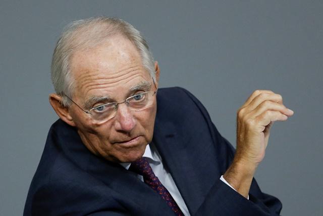 Na snímke nemecký minister financií Wolfgang Schäuble