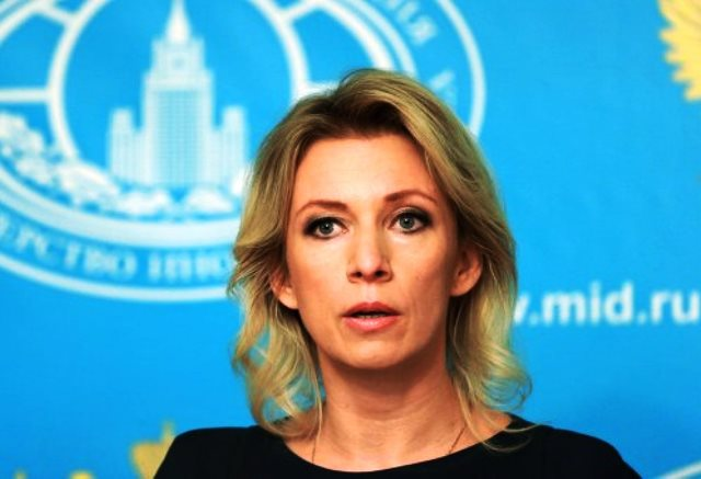 Na snímke hovorkyňa ruského ministerstva zahraničia Maria Zacharovová