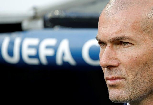 Na snímke tréner Realu Madrid Zinedine Zidane