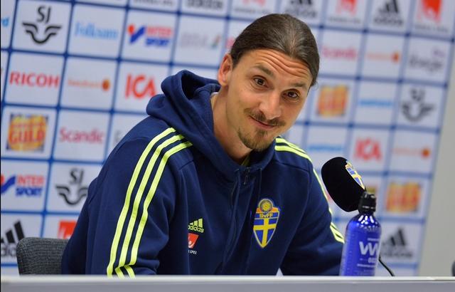 Na snímke futbalista Zlatan Ibrahimovič