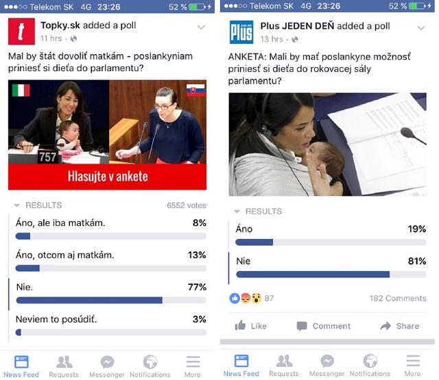 V oboch denníkoch drvivá väčšina odsúdila konanie poslankyne Petrík