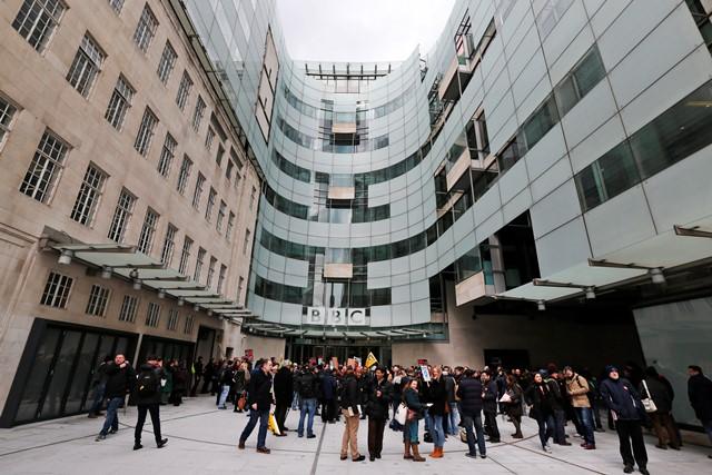 Na snímke budova britskej televízie BBC