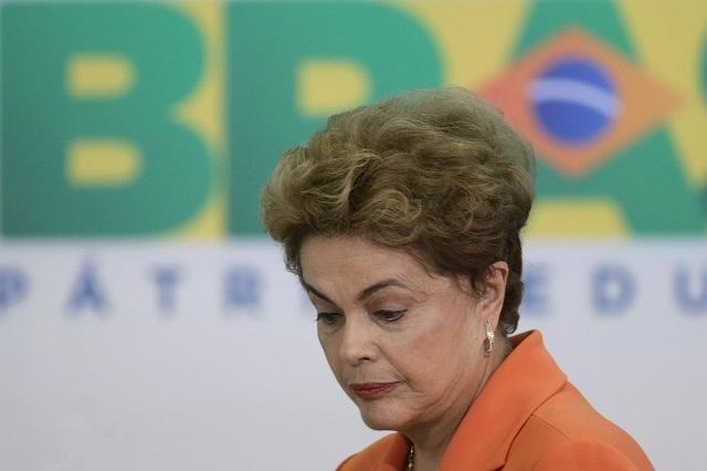 Na snímke prezidentka Brazílie Dilma Rouseffová