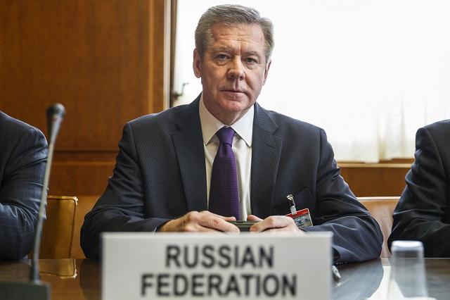 Na snímke námestník ruského ministra zahraničných vecí Gennadij Gatilov