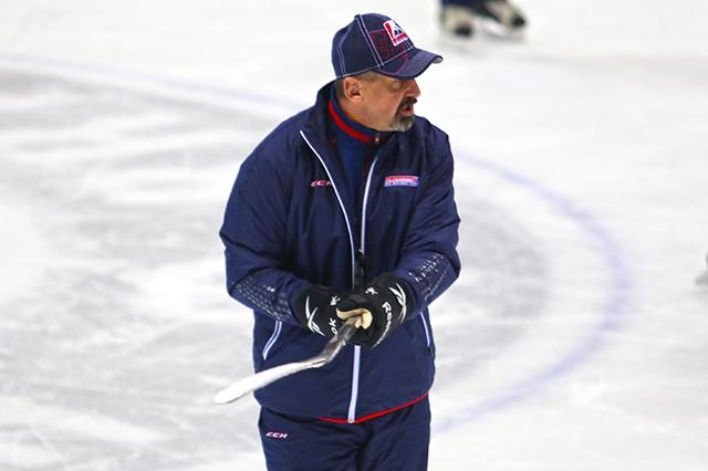 Na snímke tréner slovenskej hokejovej reprezentácie Zdeno Cíger.