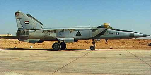 Na snímke sýrska stíhačka Mig-25