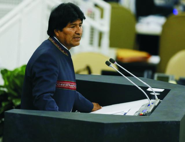 Na snímke Evo Morales