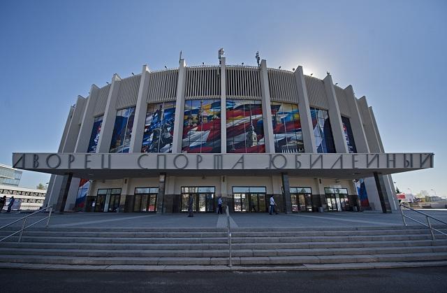 Na snímke Športový palác Jubilejnyj v Petrohrade, v ktorom odohrajú slovenskí hokejisti svoje zápasy základnej B - skupiny na 80. majstrovstvách sveta v ľadovom hokeji