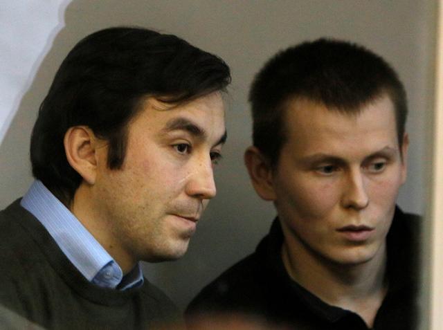 Na snímke Jevgenij Jerofejev (vľavo) a seržant Alexander Alexandrov