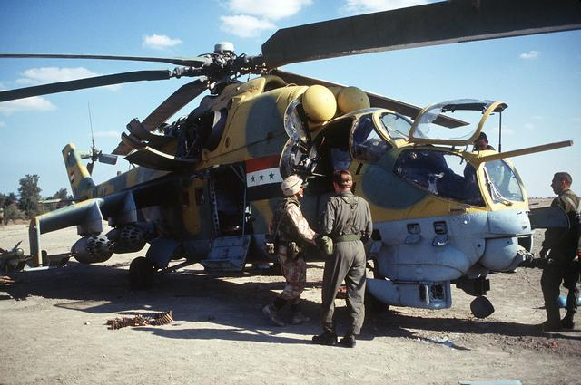 Na snímke sýrsky Mi-24