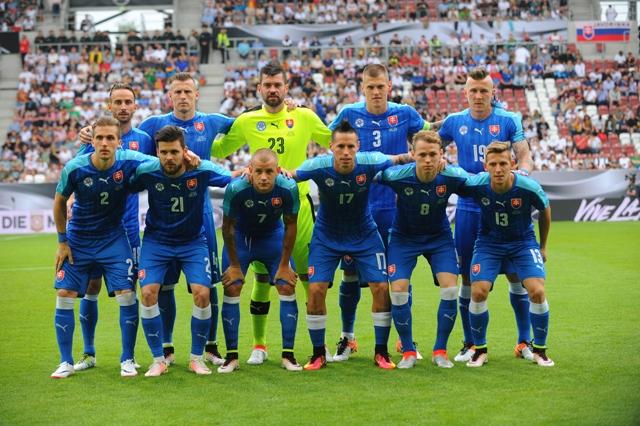 Na snímke slovenská futbalová reprezentácia