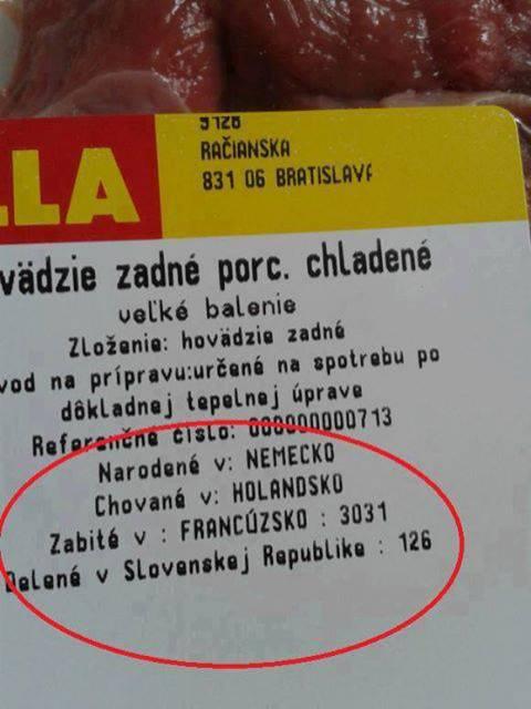 Na snímke etiketa