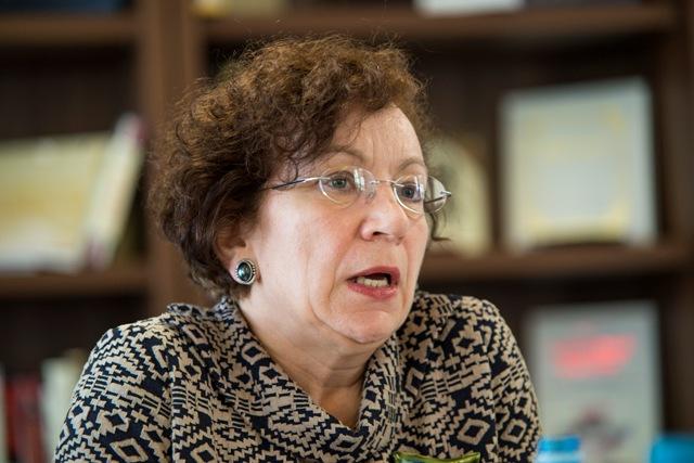 Na snímke Oľga Gyarfášová z Inštitútu európskych štúdií a medzinárodných vzťahov