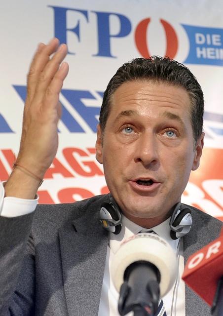 Na snímke líder FPÖ Heinz-Christian Strache