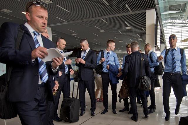 Odlet slovenskej futbalovej reprezentácie do dejiska ME vo Francúzsku