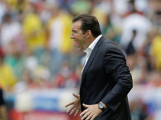 Na snímke tréner futbalistov Belgicka Marc Wilmots