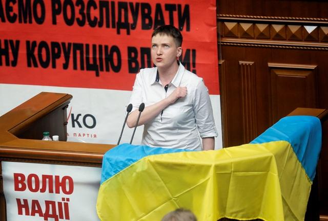 Na snímke Nadija Savčenková