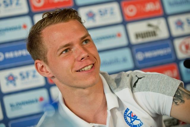 Na snímke slovenský futbalista Ondrej Duda