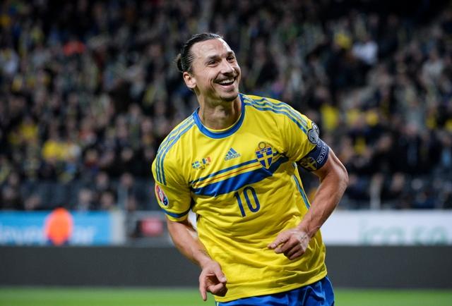 Na snímke švédsky hráč Zlatan Ibrahimovič