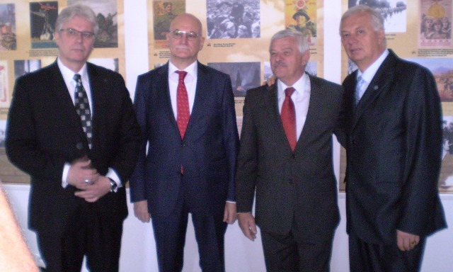 Na snímke zľava doprava Pavol Lančarič, Alexej Fedotov, Tibor Mikuš, Michal Sýkora