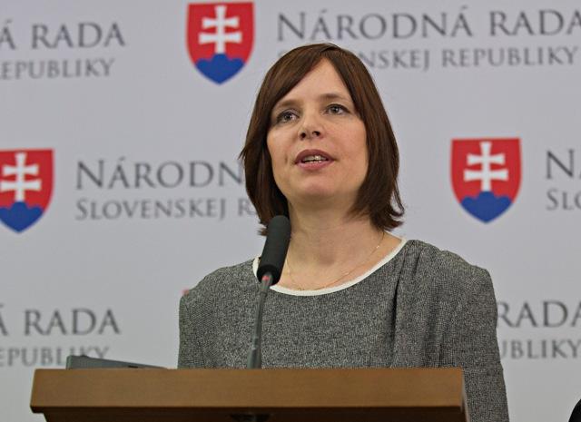 Na snímke Veronika Remišová (OĽaNO-NOVA)