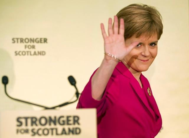 Na snímke predsedníčka škótskej vlády Nicola Sturgeonová