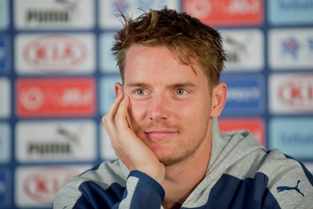 Na snímke slovenský futbalový reprezentant Tomáš Hubočan