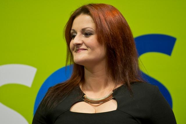 Na snímke predsedníčka poslaneckého klubu Sloboda a Solidarita (SaS) Natália Blahová, ktorá rozpútala mediálne tiahnutie proti zariadeniu Čistý deň