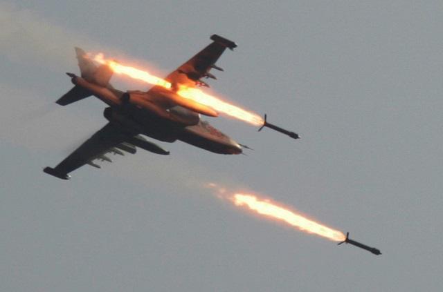 Na snímke  ruské bojové lietadlo Su-25
