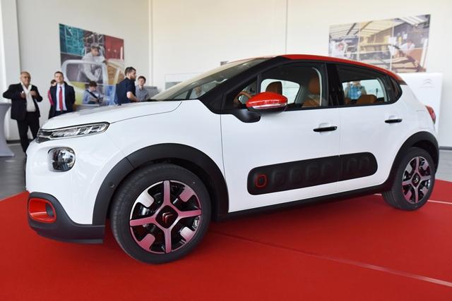 Na snímke nový model automobilu Citroën C3, ktorý predstavili v spoločnosti PSA Peugeot Citroën Slovakia v Trnave