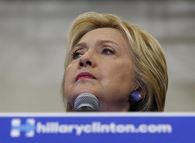 Americká prezidentská kandidátka Hillary Clintonová