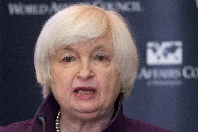 Na snímke šéfka americkej centrálnej banky Janet Yellenová