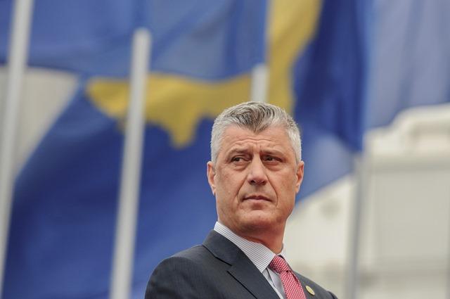 Na snímke kosovský prezident Hashim Thaci