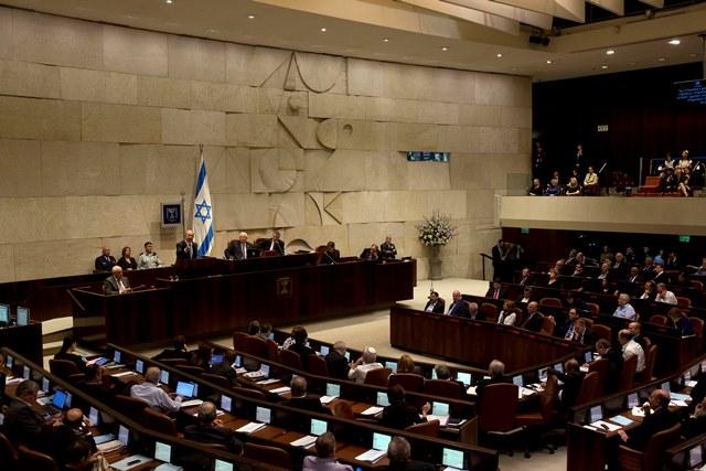 Na snímke poslanci izraelského parlamentu