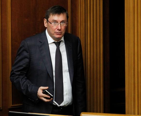 Na snímke ukrajinský generálny prokurátor Jurij Lucenko